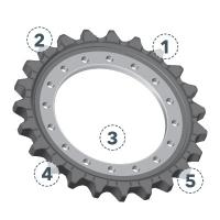 Приводные колеса (зубчатые) Vögele # 4610062233