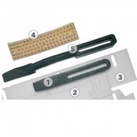 Скребки для гладких бандажей HAMM # 557374 (задний – ширина 550)